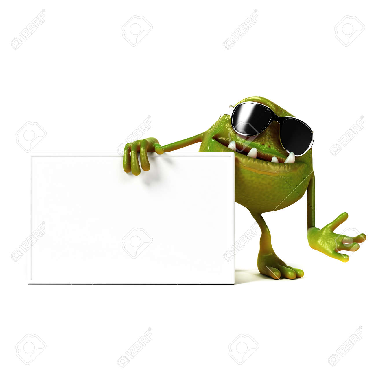 3d rendered illustration of a funny bacteria toon Stock Photo - 17904774