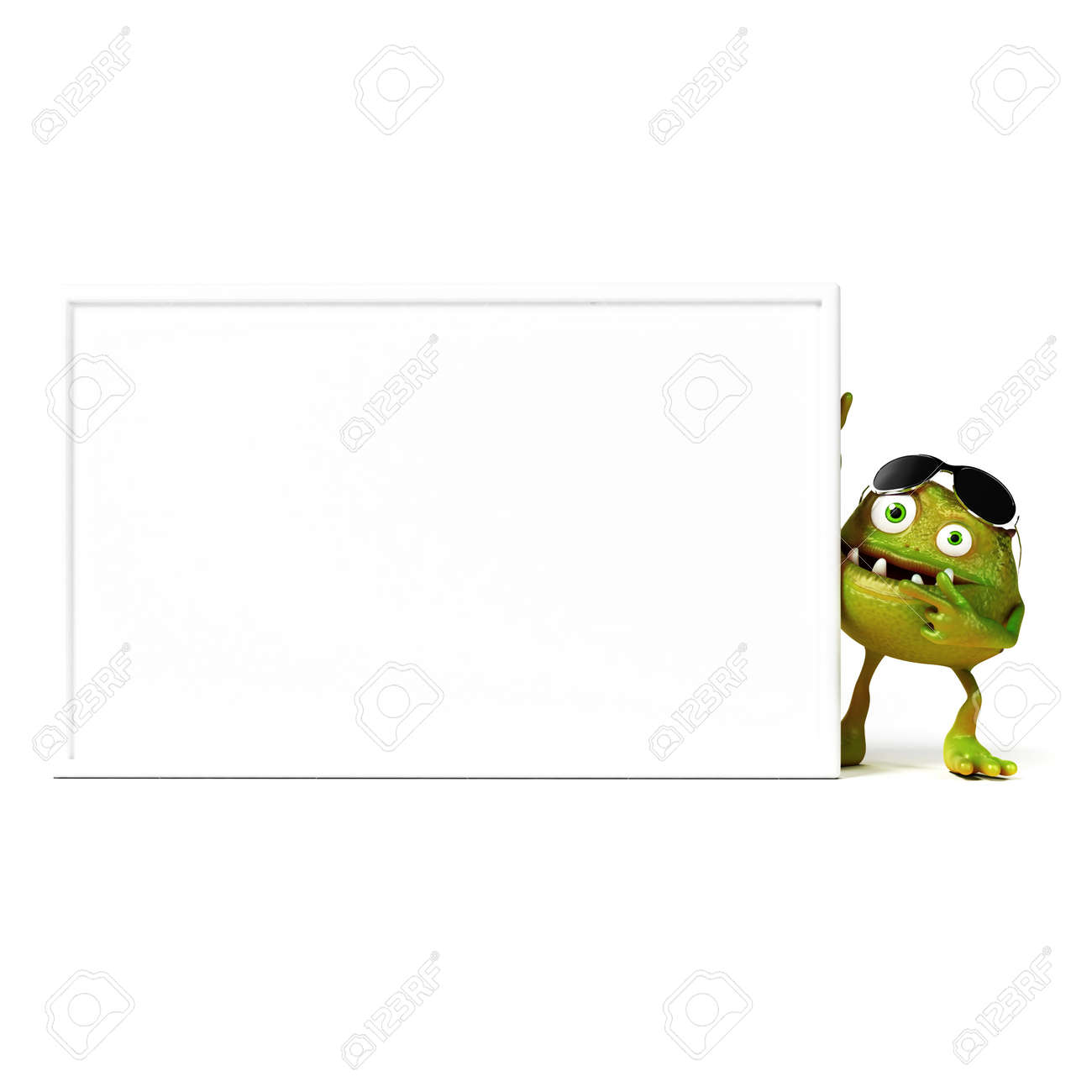 3d rendered illustration of a funny bacteria toon Stock Photo - 18070282