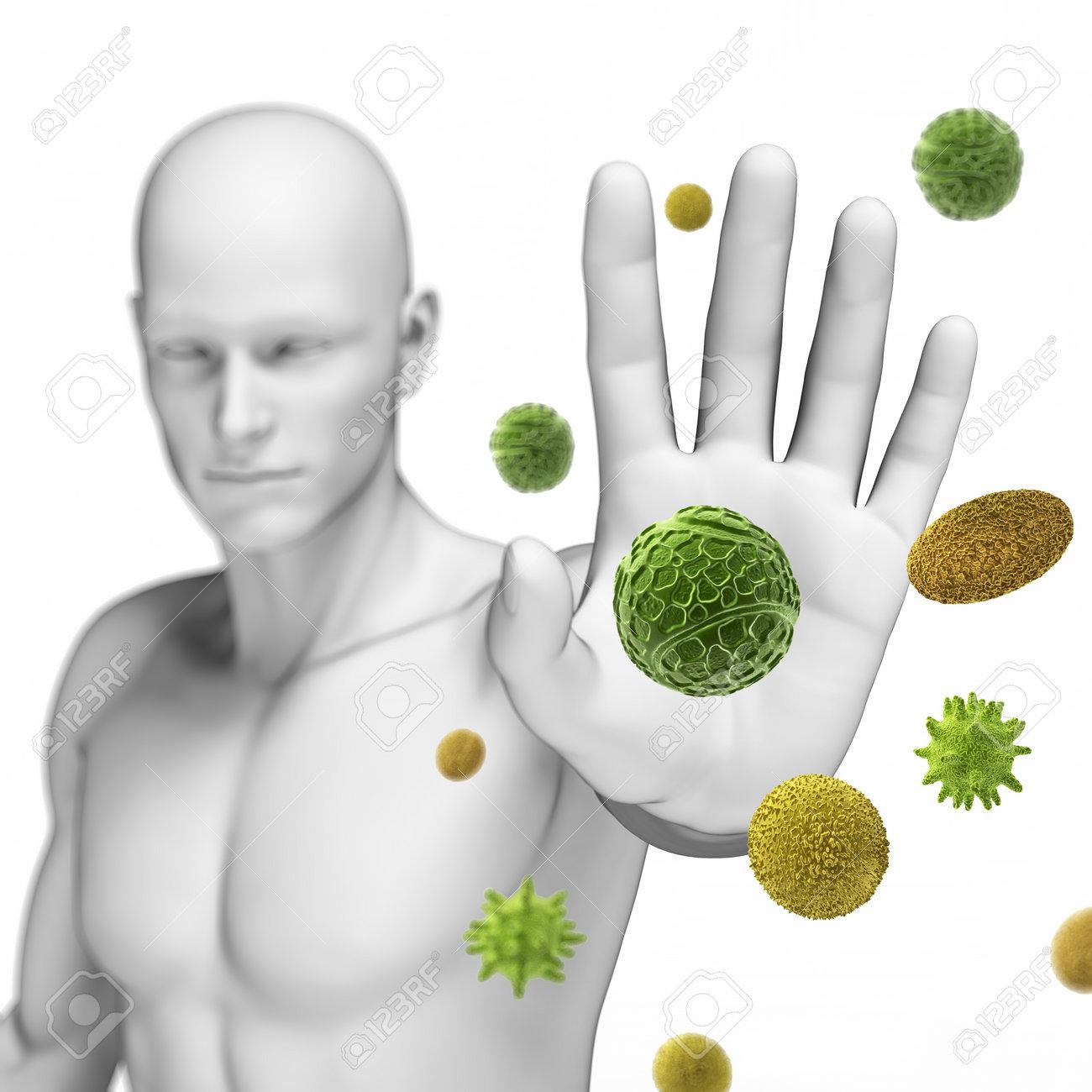 3d rendered illustration defending some pollen - 18448717