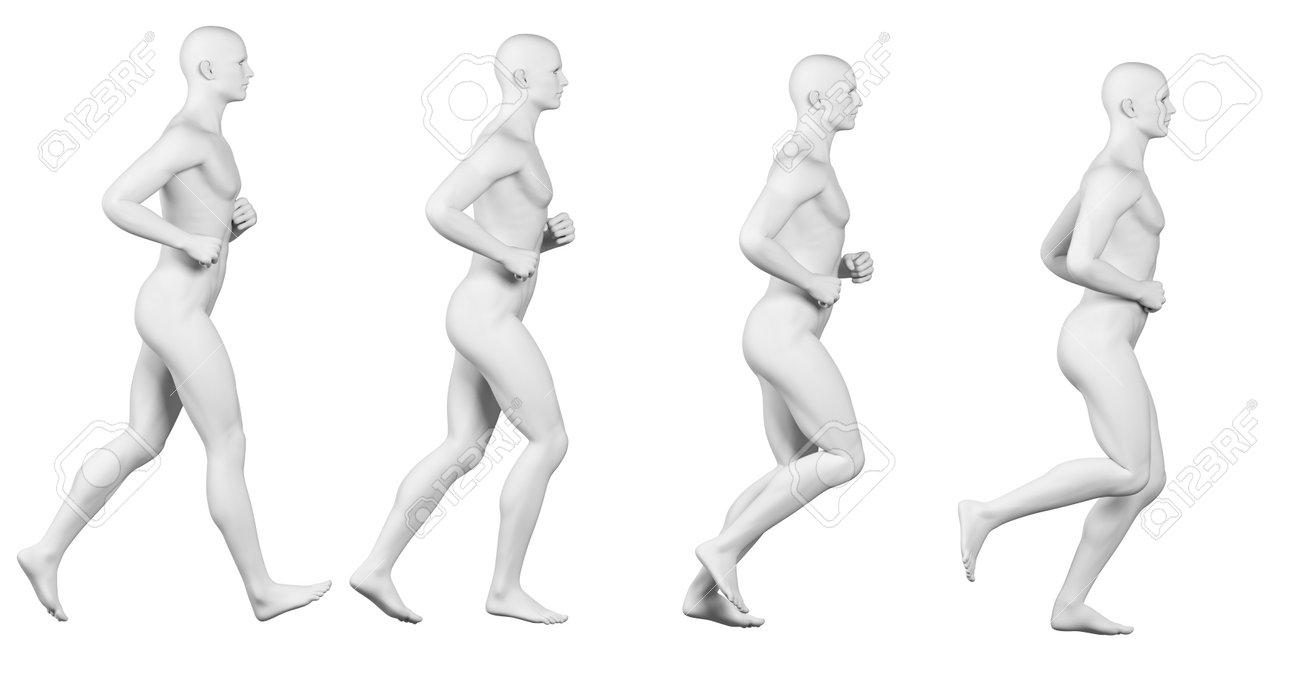 Corriendo Ilustración Ciclo - Cuerpo Blanco Fotos, Retratos ...