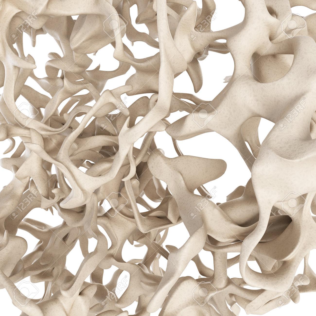 scientific illustration - osteoporosis bone structure - 27227657