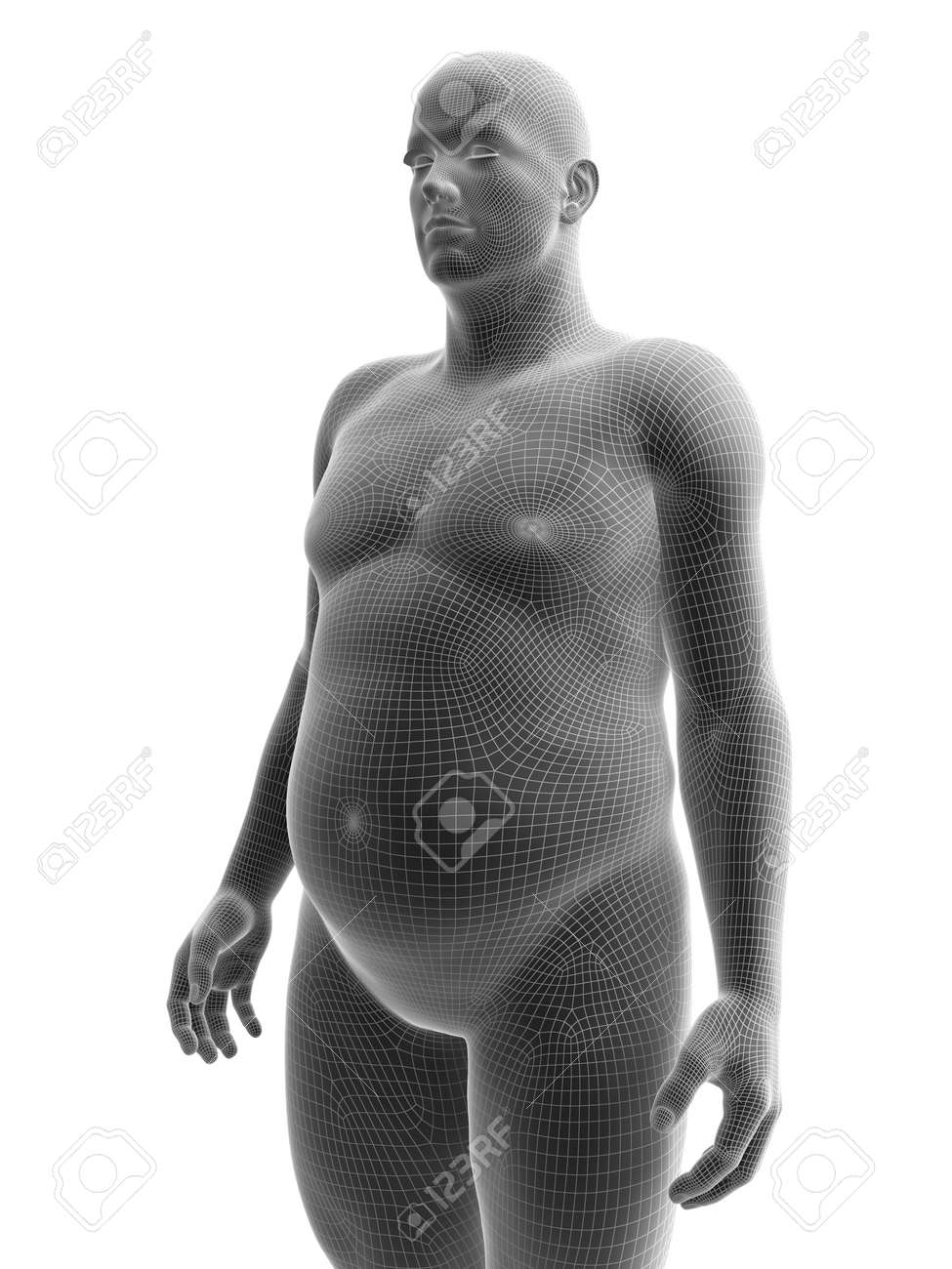 3d Rendered Medically Accurate Illustration Of An Obese Male Stock Photo Picture And Royalty Free Image Image 140959912
