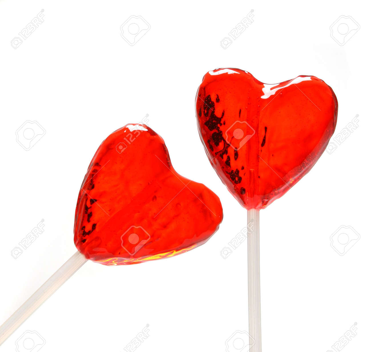 Two Heart Shaped Lollipops For Valentines Day From My Valentine Series  Stock Photo 671645   Valentine