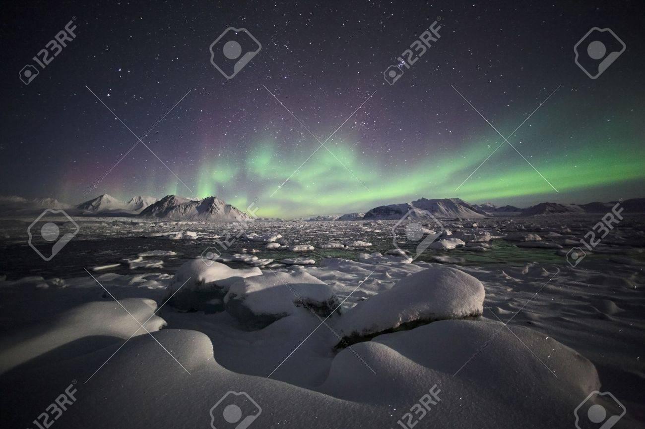 Natural phenomenon of Northern Lights (Aurora Borealis) Stock Photo - 10907005