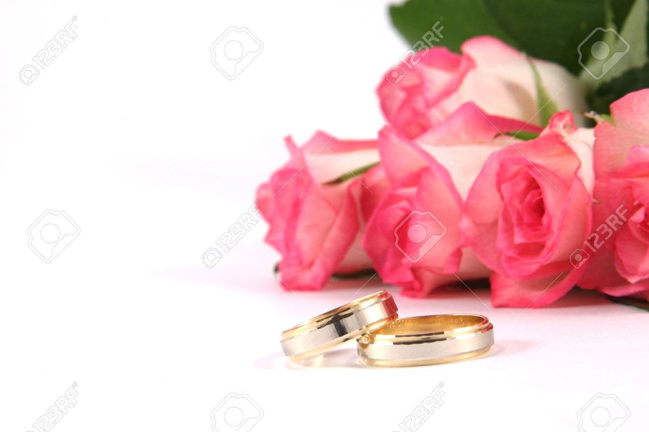 Wedding Rings And Roses Stock Photo, Picture And Royalty Free Image ...