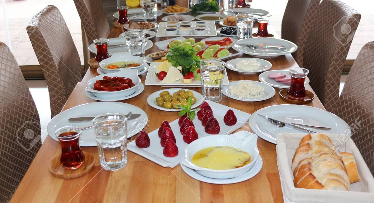 Breakfast Served with Black Tea - 146345948
