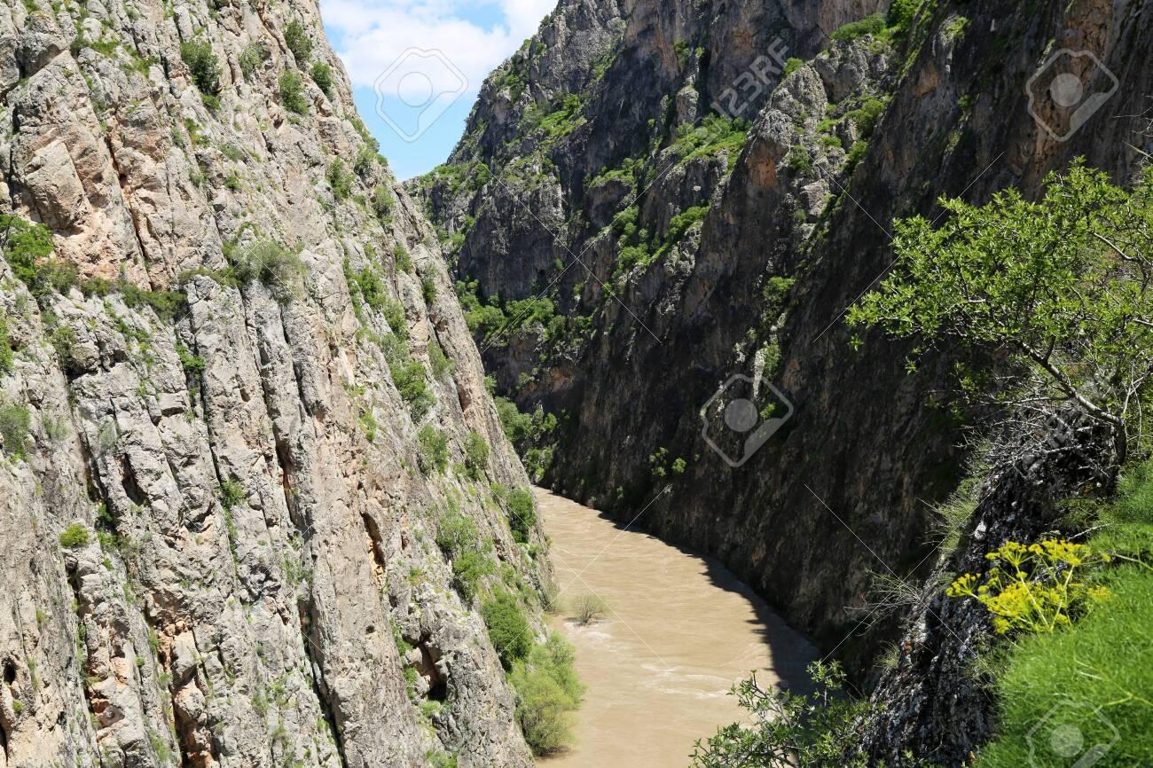 Dark Canyon In Erzincan, Turkey - 146345970