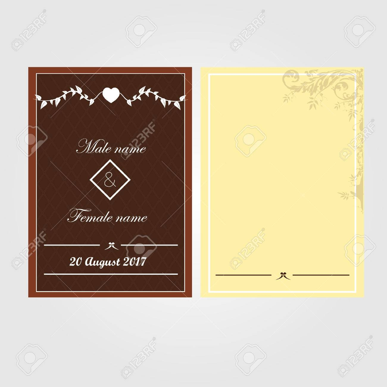 Minimalist wedding invitation with brown background royalty free minimalist wedding invitation with brown background stock vector 71989803 stopboris Image collections