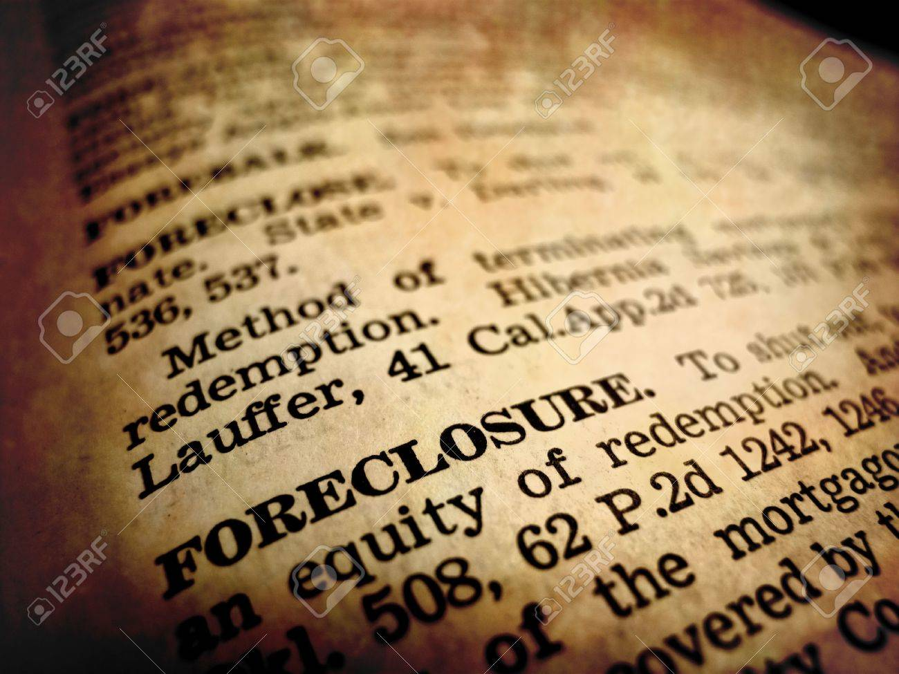 Definition Of Foreclosure In Dictionary Book On Pages With Type Stock Photo    7622587