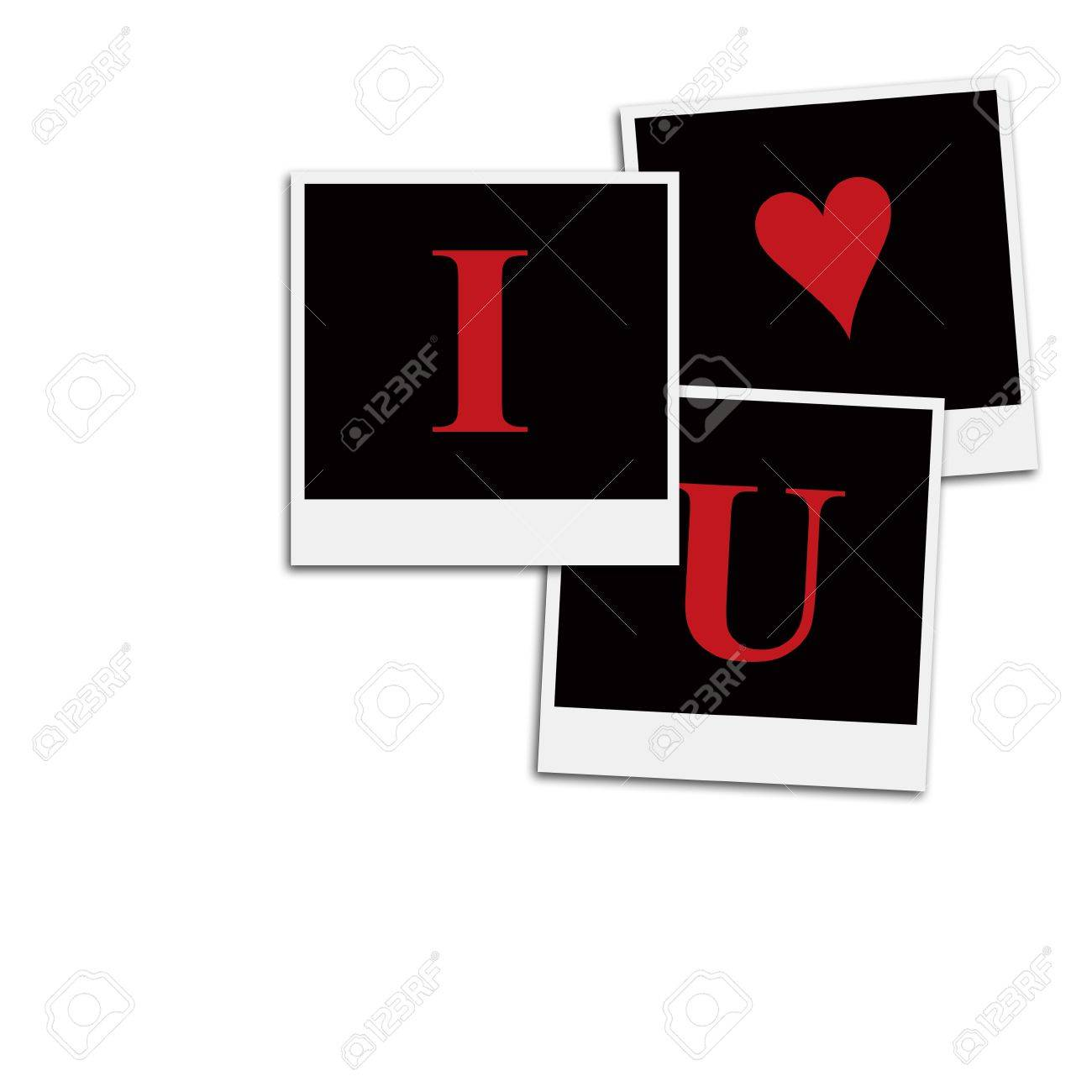 Several Instant Film Frames On An Isolated White Background Saying ...