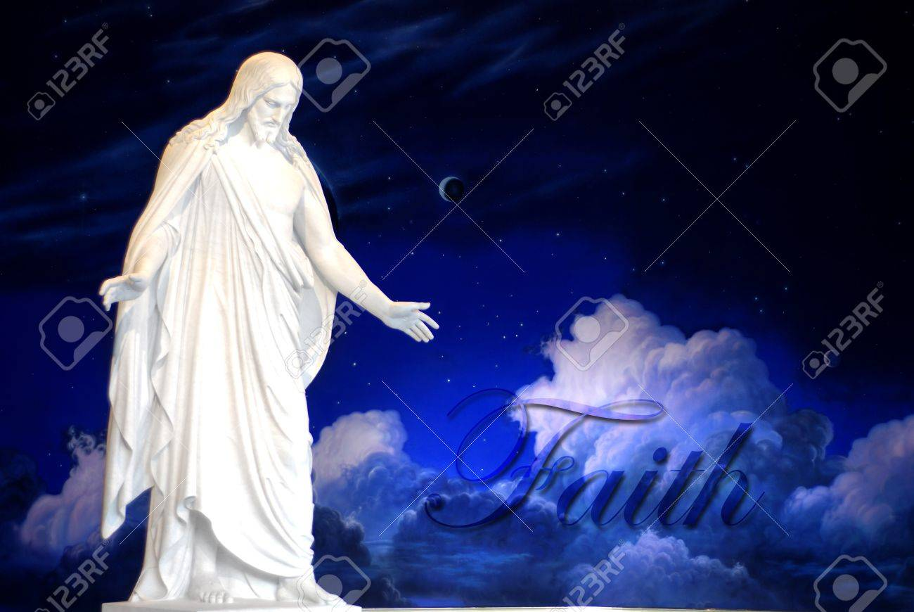 Statue of Jesus Christ with hands outstretched Stock Photo - 9151892