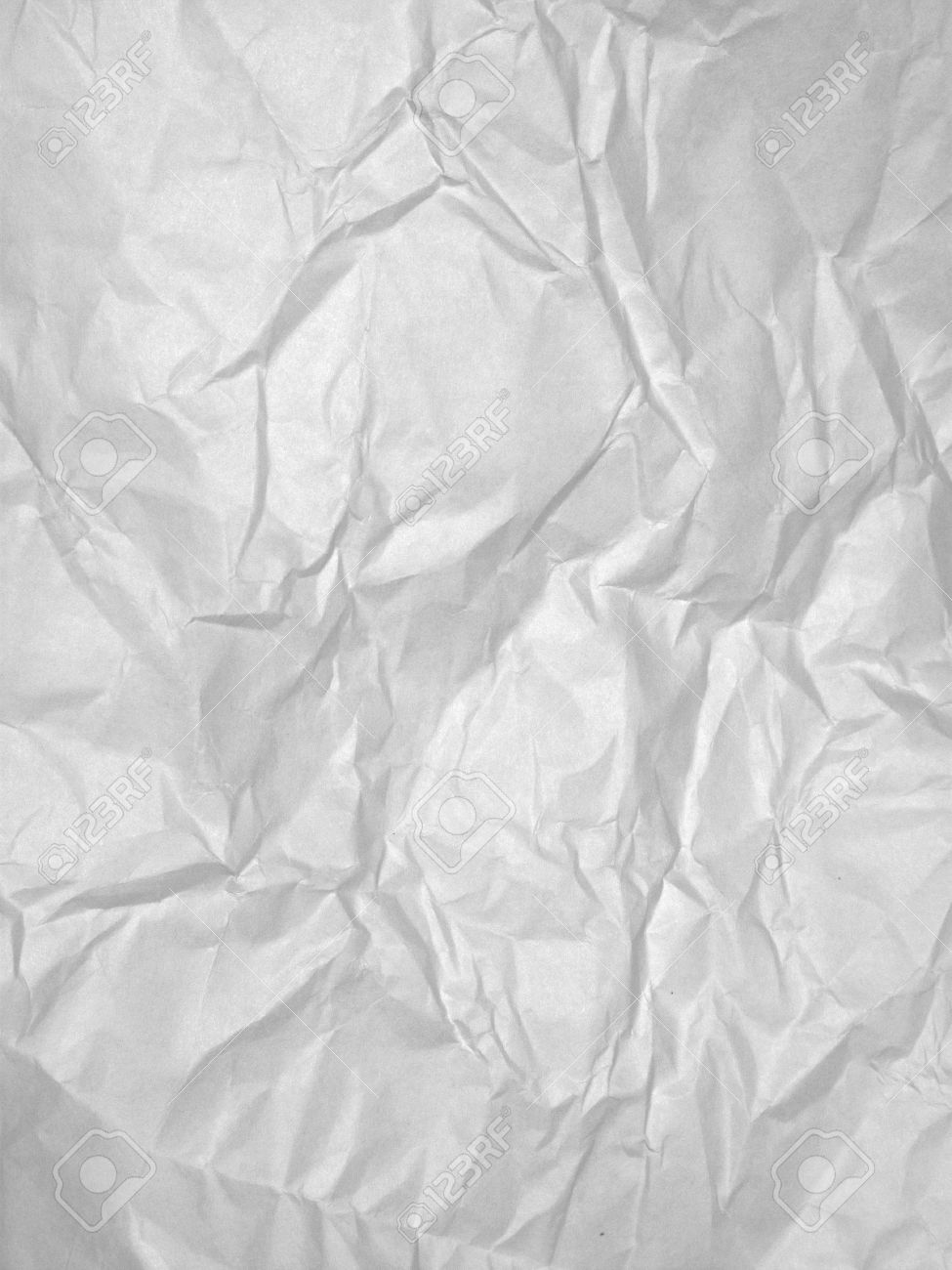 Rumpled bed sheet - Stock Photo White Sheet Of Crumpled Textured Paper For A Background