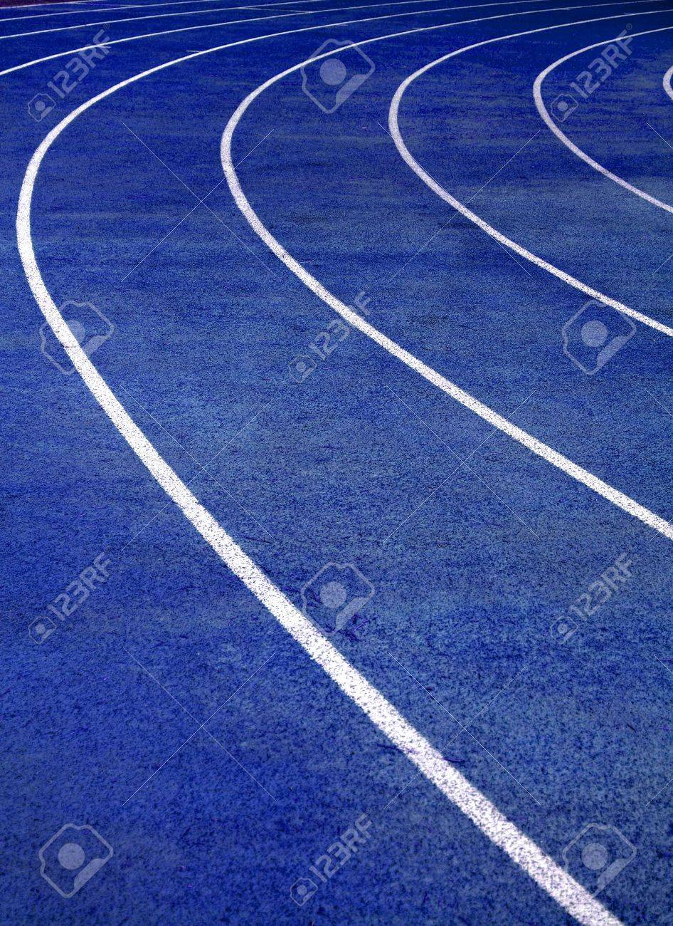 Lanes of blue running race