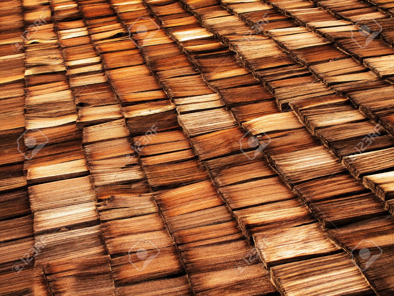 Old wood shingle roof with texture and brown color Stock Photo - 17531159