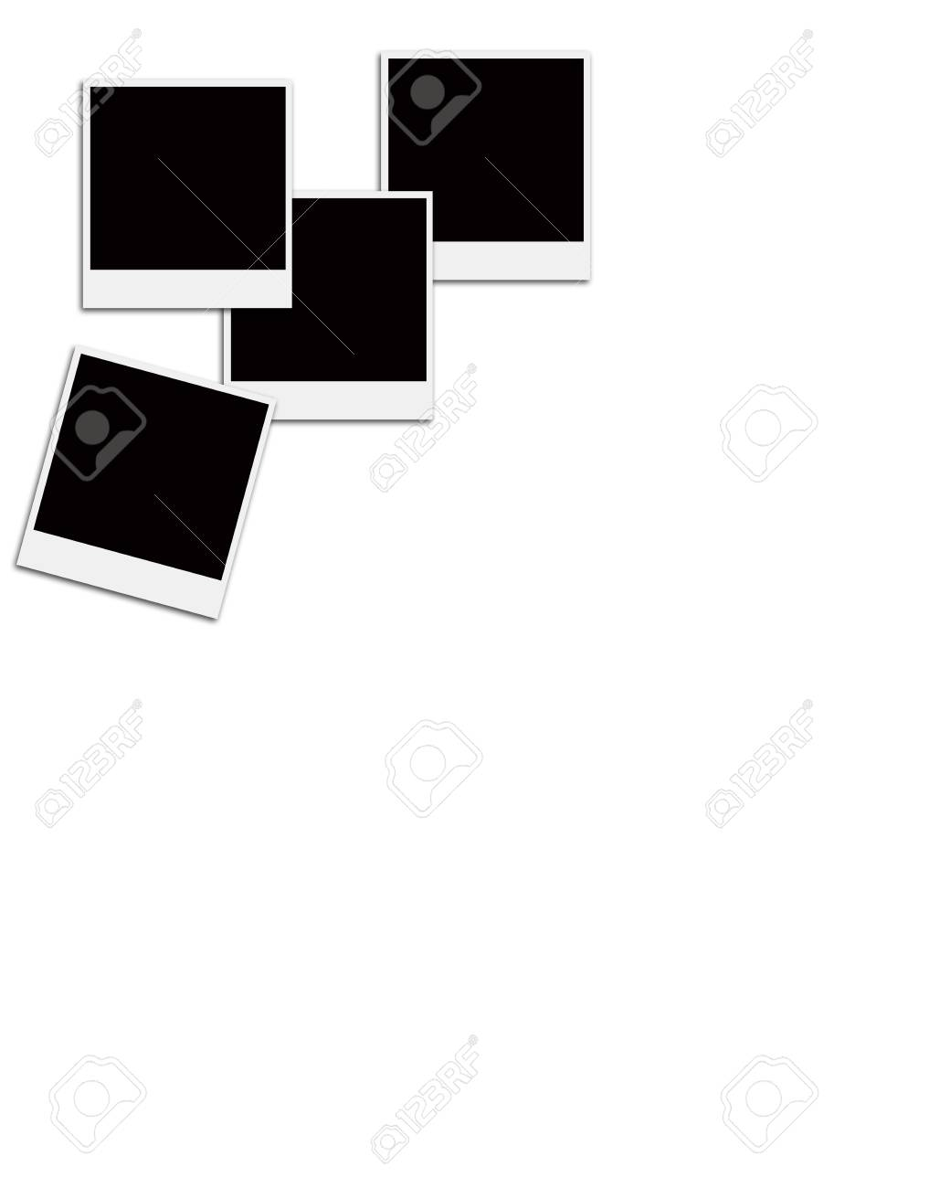 Varios Fotogramas De Película Instantánea En Un Fondo Blanco Aislado ...