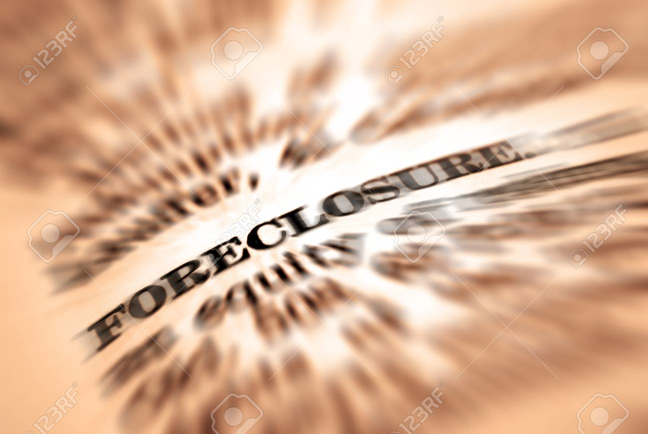 Closeup Of Foreclosure Definition In Dictionary Stock Photo   21533290
