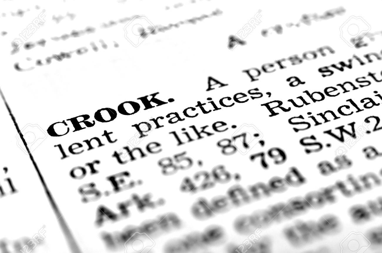 definition of crook defined in dictionary stock photo, picture and