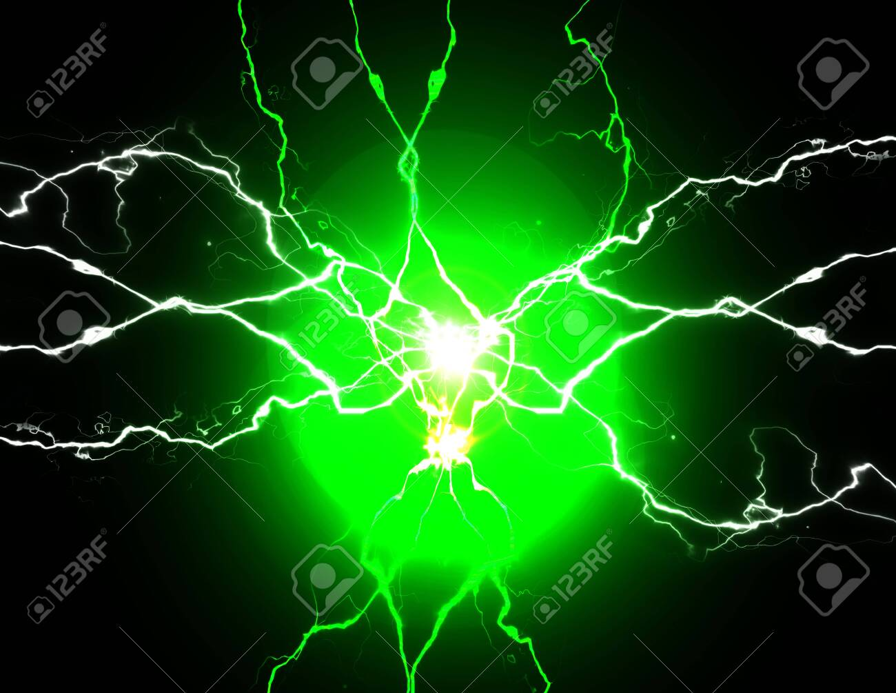 Green energy with electrical electricy plasma power crackling fusion bolts - 144804119