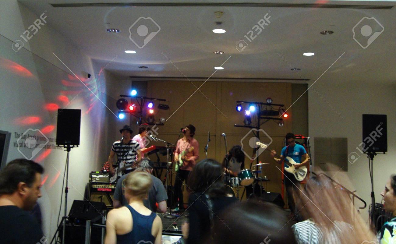 Scissors for Lefties play at the YBCA Musuem.  Taken Jul 9, 2010 at the YBCA in San Francisco  Stock Photo - 7525444
