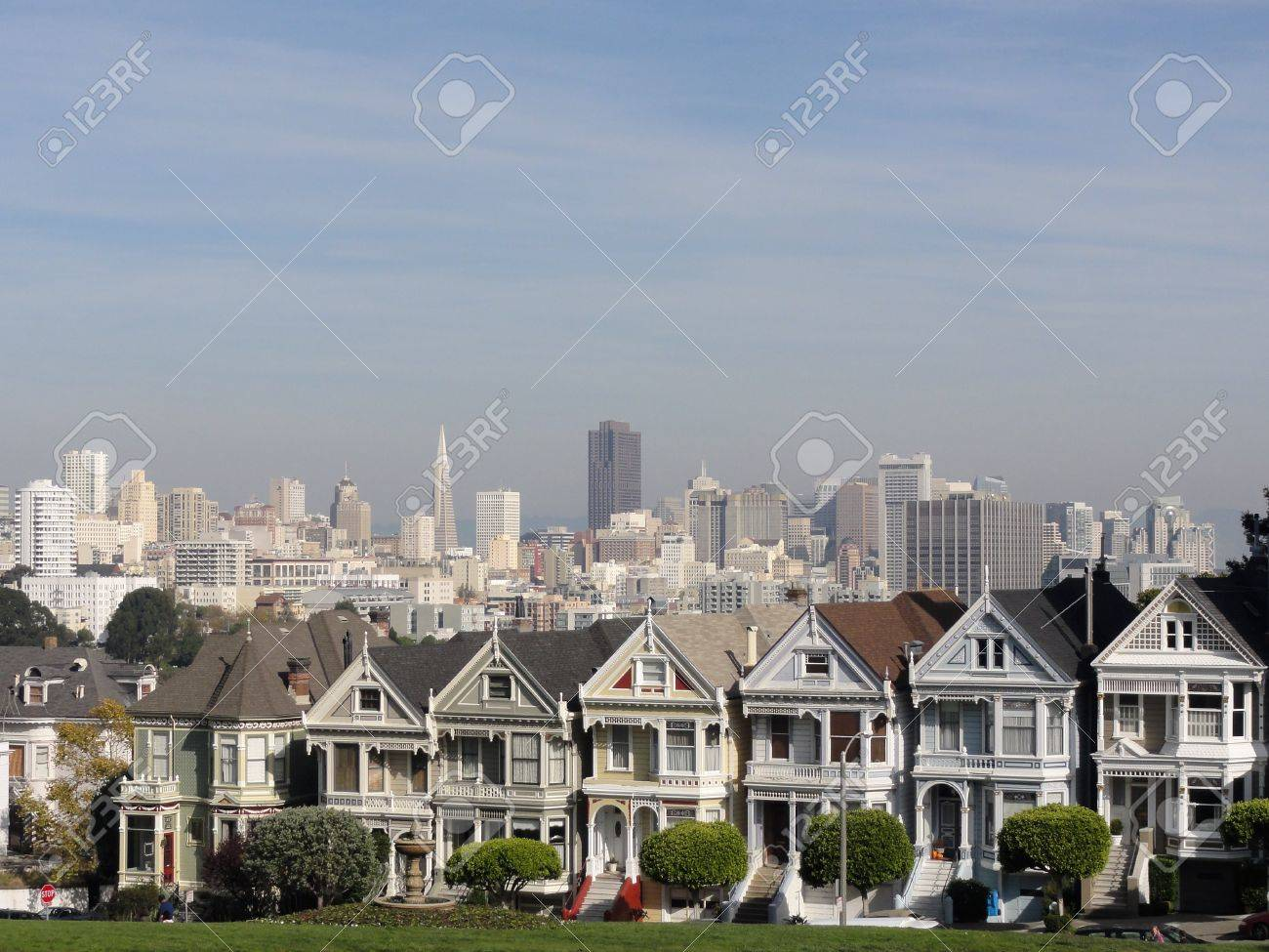 Painted Ladies of San Francisco in California. Stock Photo - 14686075