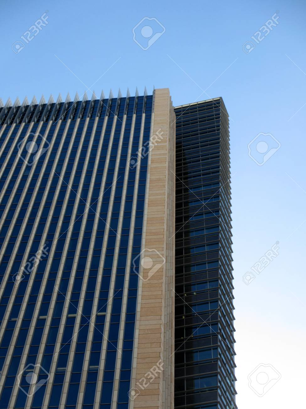 Side Angle of Modern Tall Building with a blue sky  Stock Photo - 17741979