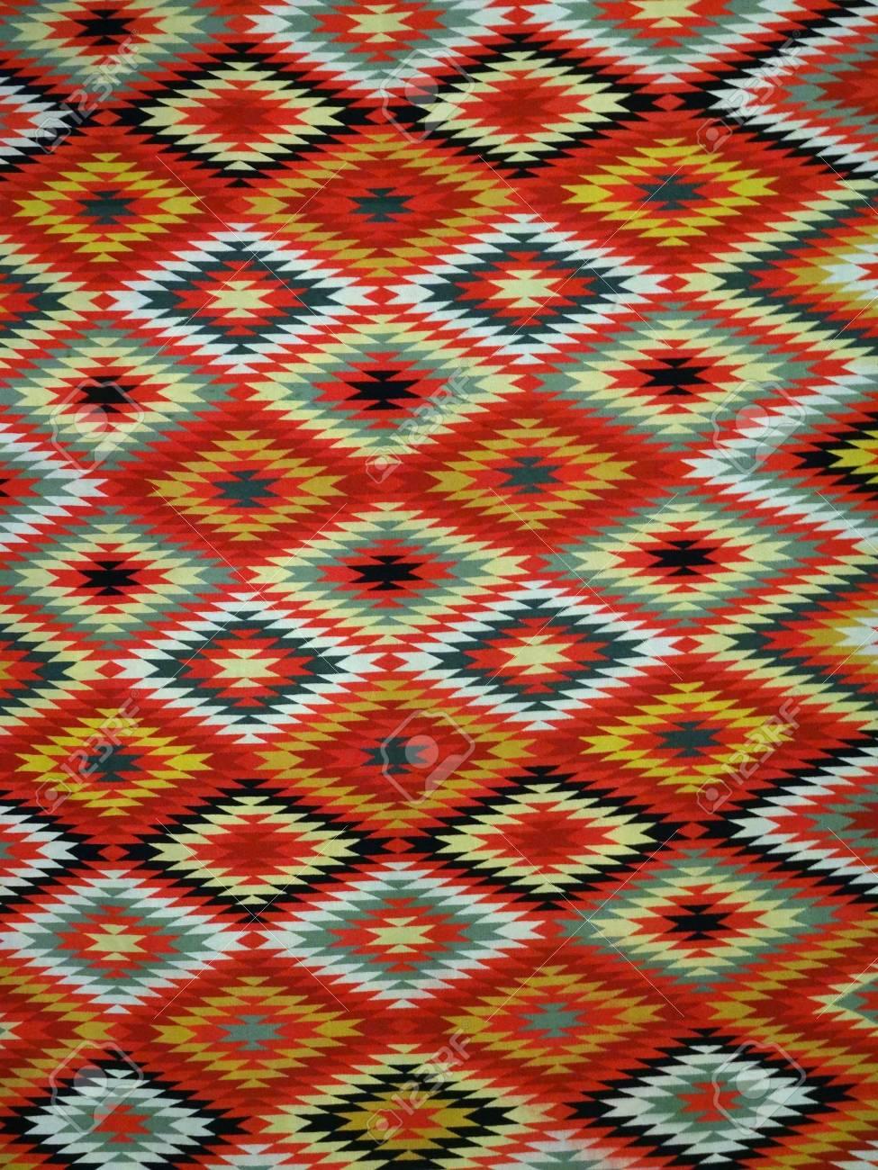 Muster Rot, Orange, Weiß, Grün, Schwarz Und Blau Diamant Decke