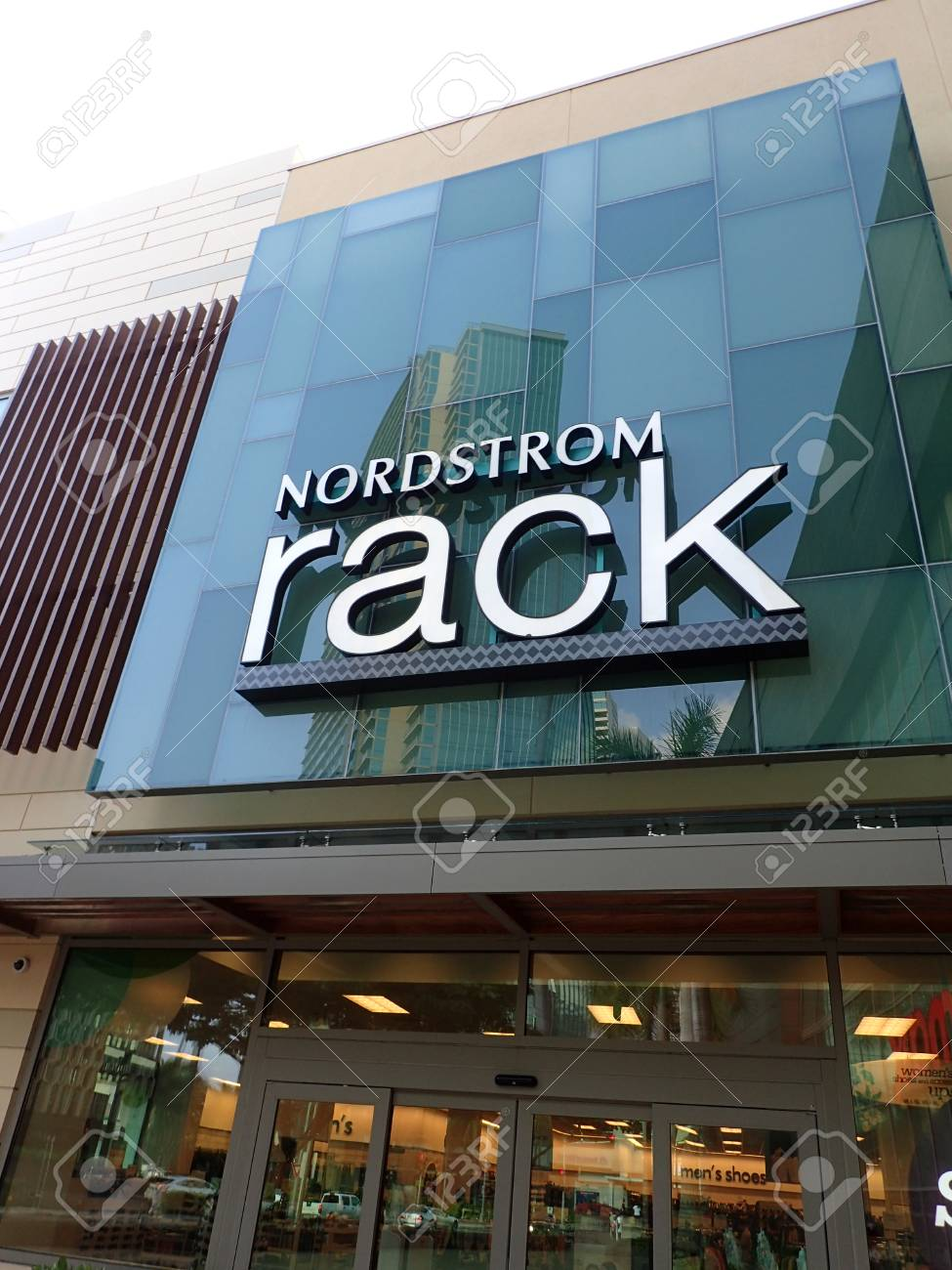 2532d1f080 HONOLULU - JANUARY 28  Nordstrom Rack sign and entance way in Ward Village  on Oahu