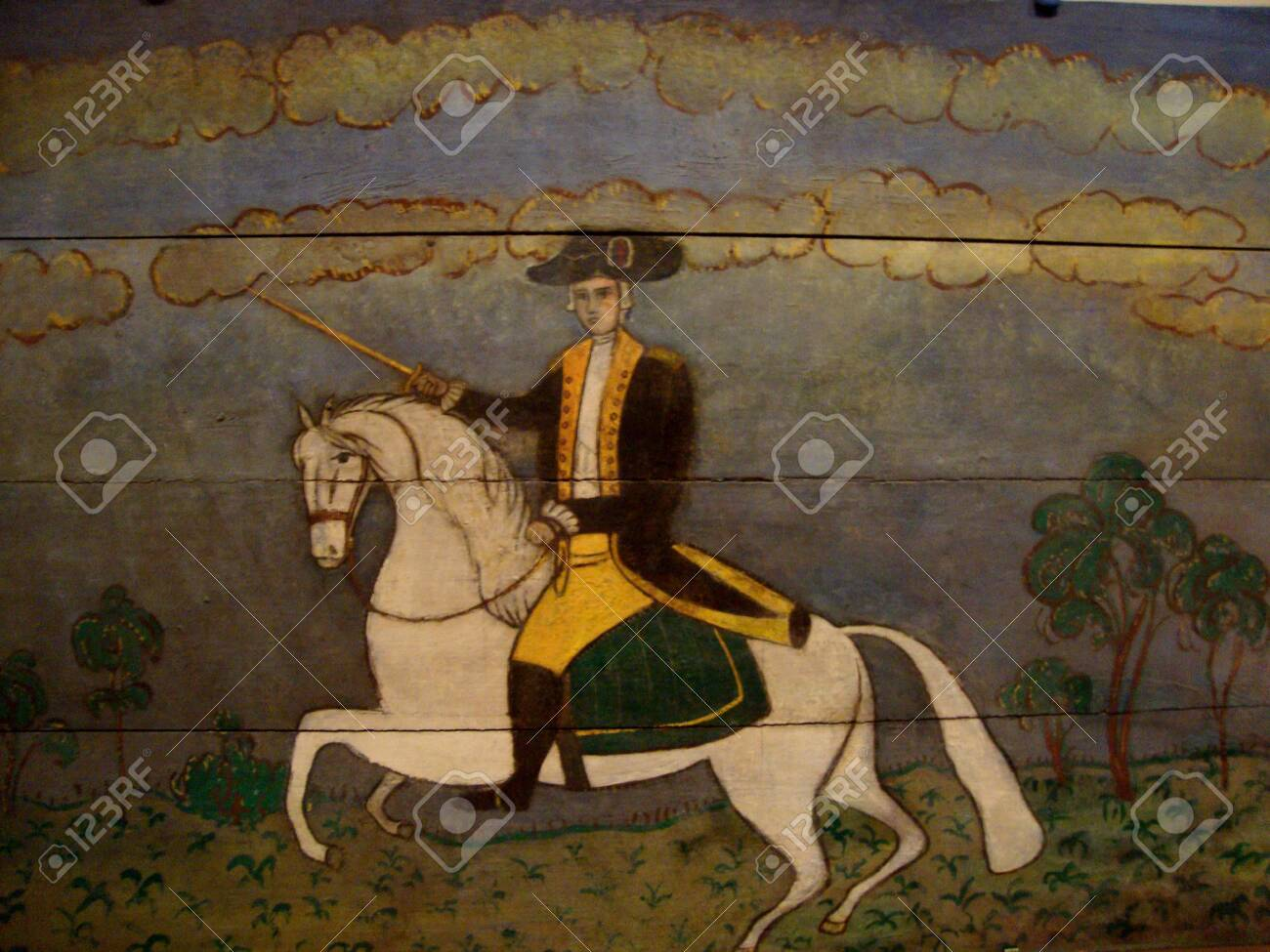 Illustration Of General George Washington Riding A White Horse Stock Photo Picture And Royalty Free Image Image 121601680