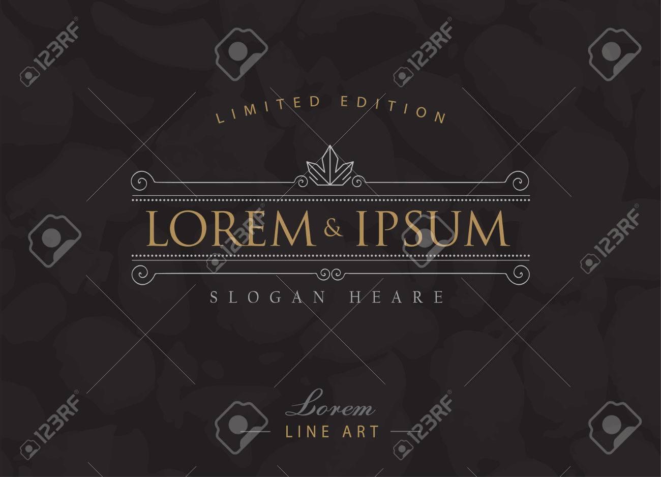 Luxury Logos Flourishes Calligraphy Elegant Template Royalty Free ...