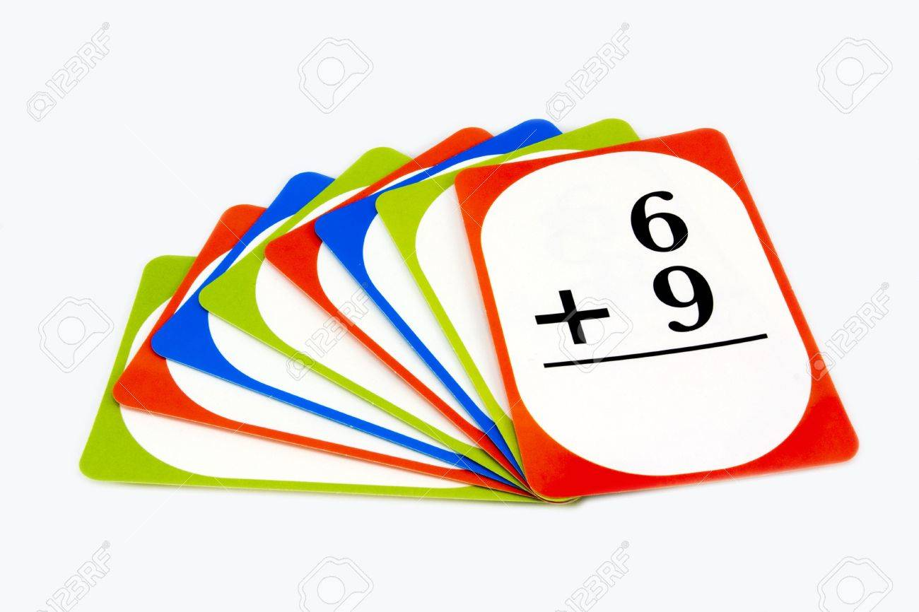 Worksheet Free Math Flash Cards multi colored math flash cards stock photo picture and royalty 4470969