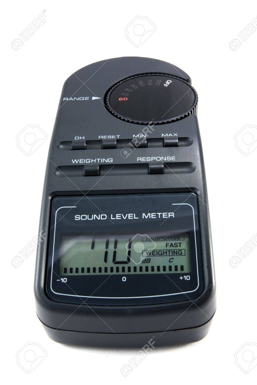 Sound Pressure Level Meter For Measuring Speaker Placement Stock Photo 4471007