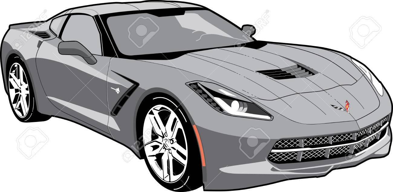 corvette c7 stingray royalty free cliparts vectors and stock rh 123rf com corvette clip art images corvette clipart logo