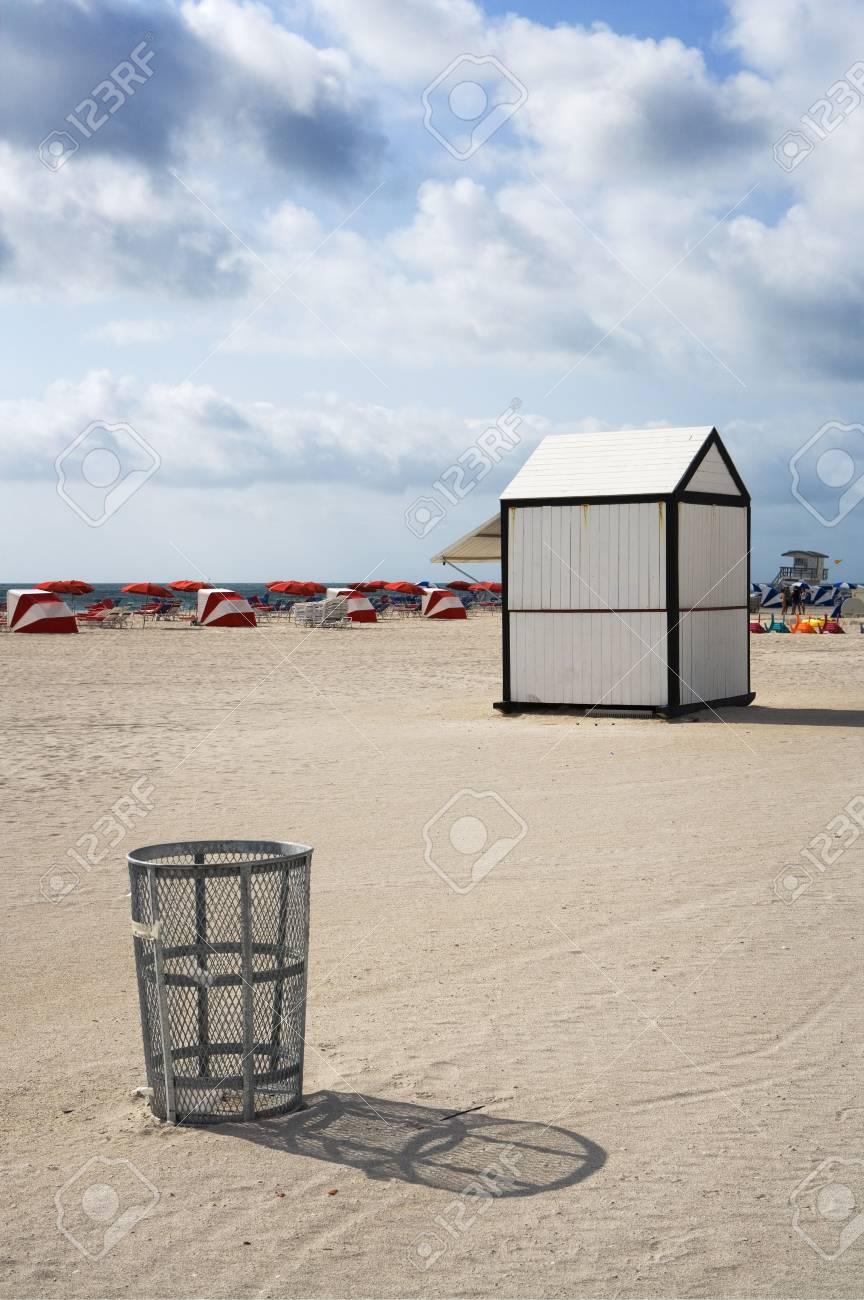 Empty Trash Can & Hut Stock Photo - 5647631