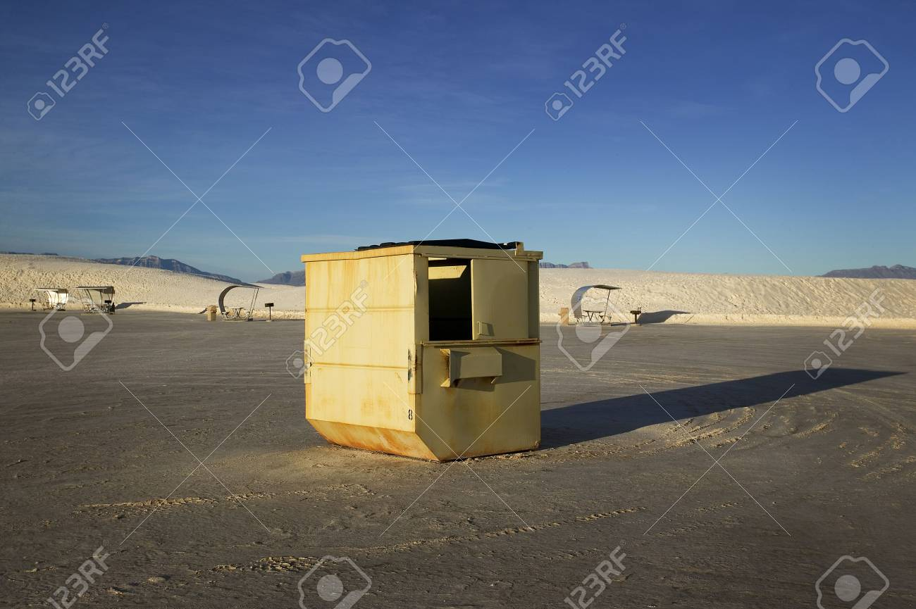 Dumpster and Pic Nic Area Stock Photo - 6099818