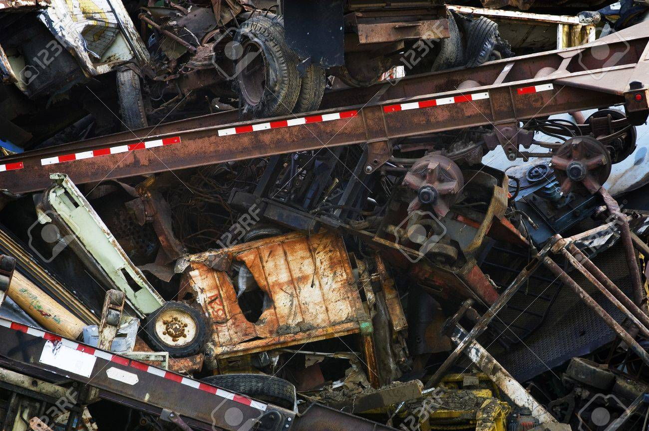 Heavy Industrial Scrap Metal for ReCycling Stock Photo - 7463931