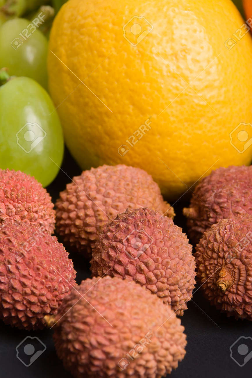 Close up view of various fresh fruits Stock Photo - 748677