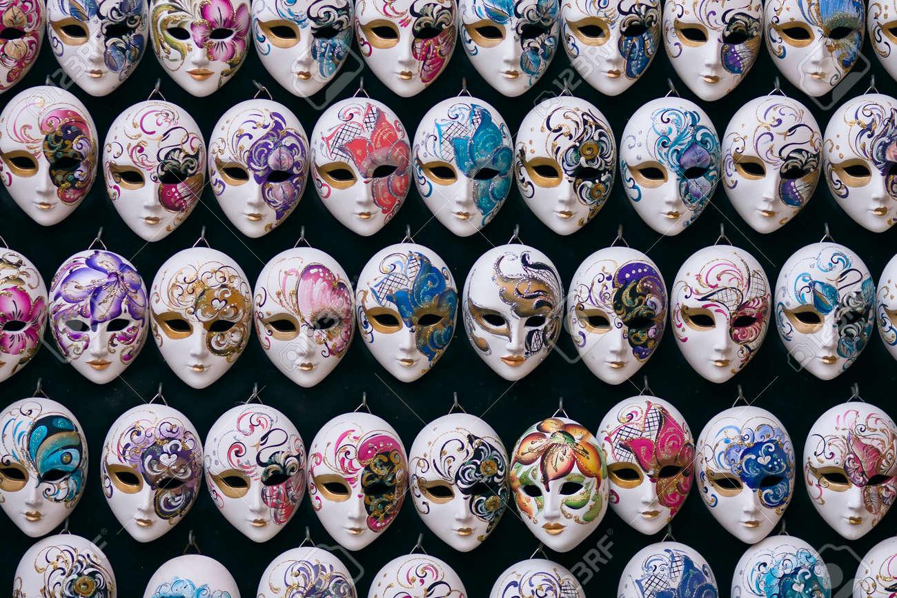 decorative miniature venetian carnival masks venice venezia