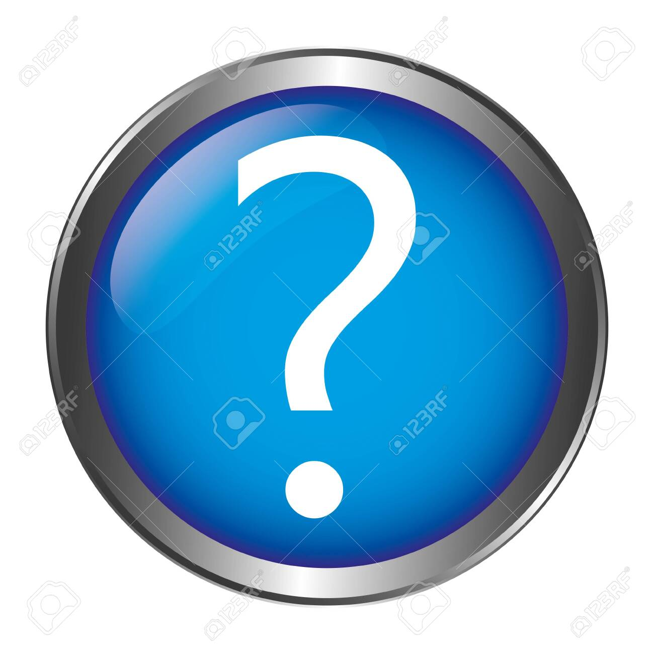 Question Mark Button - 129468959