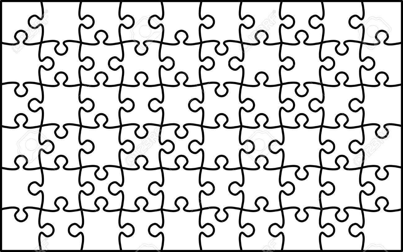 Jigsaw puzzle 10x6 White Stock Photo - 5900813