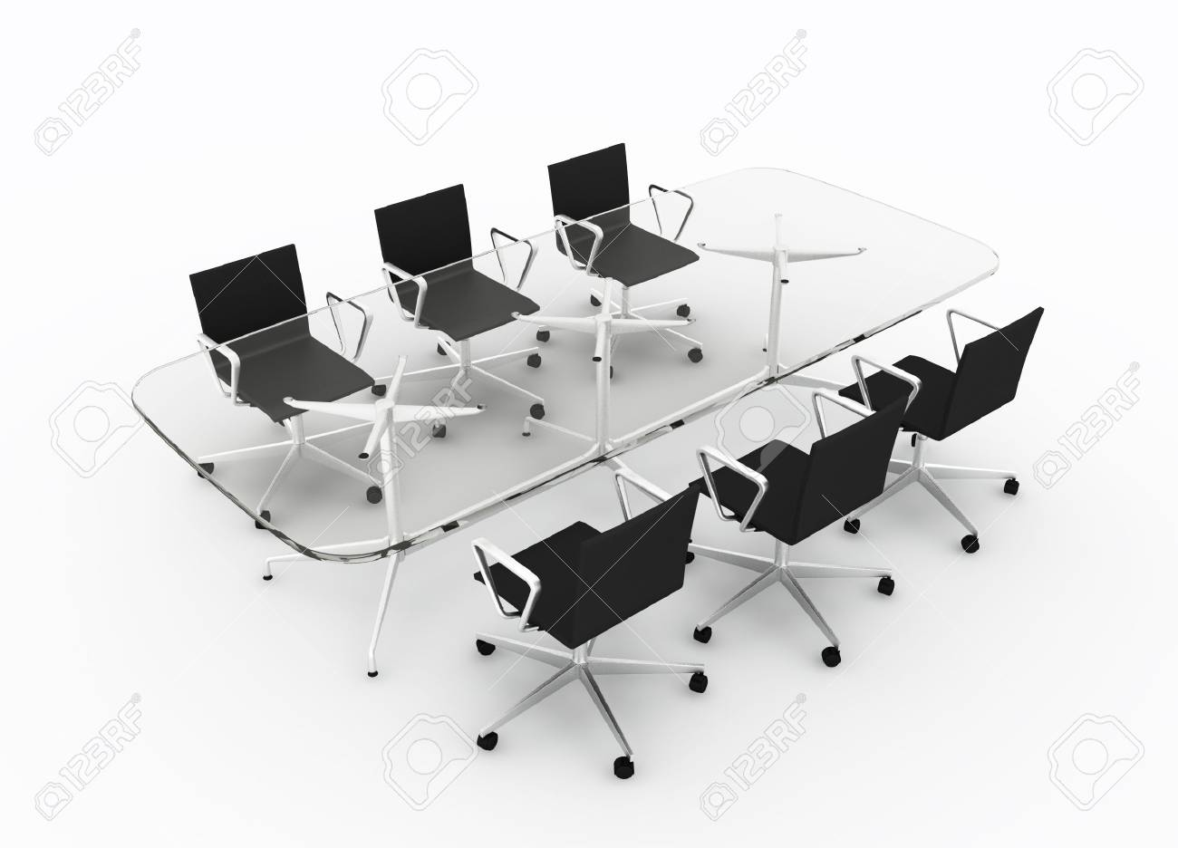 Empty conference table isolated on white Stock Photo - 5926564