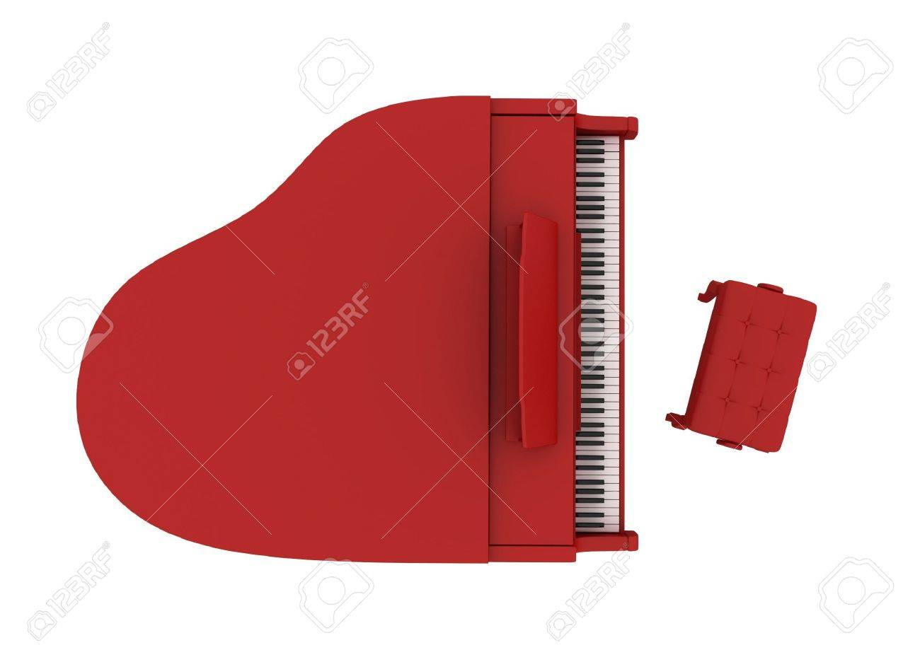 Beautiful red grand piano isolated on white background Stock Photo - 6109602