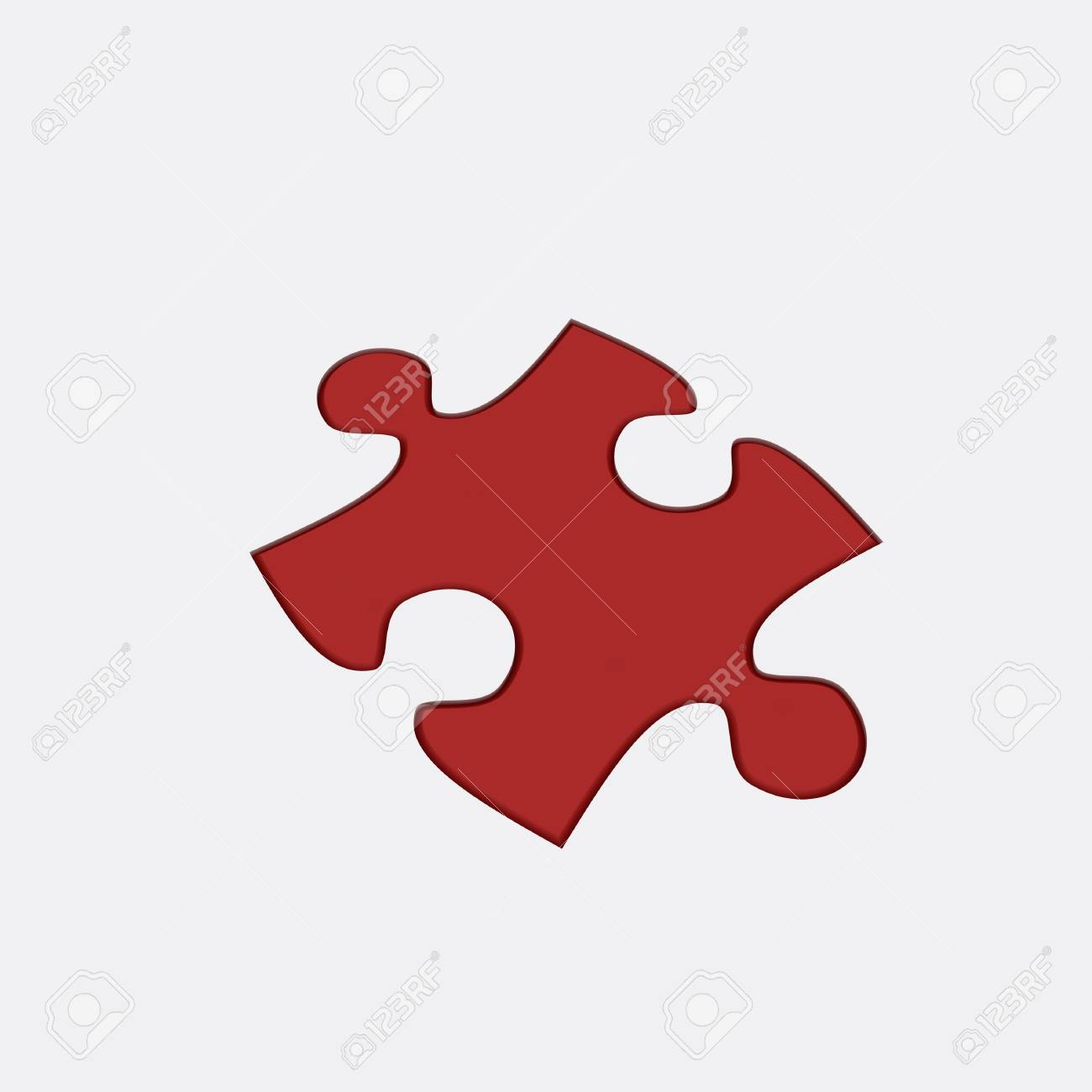 Beautiful Red Puzzle on white background. Large image Resolution Stock Photo - 6301660