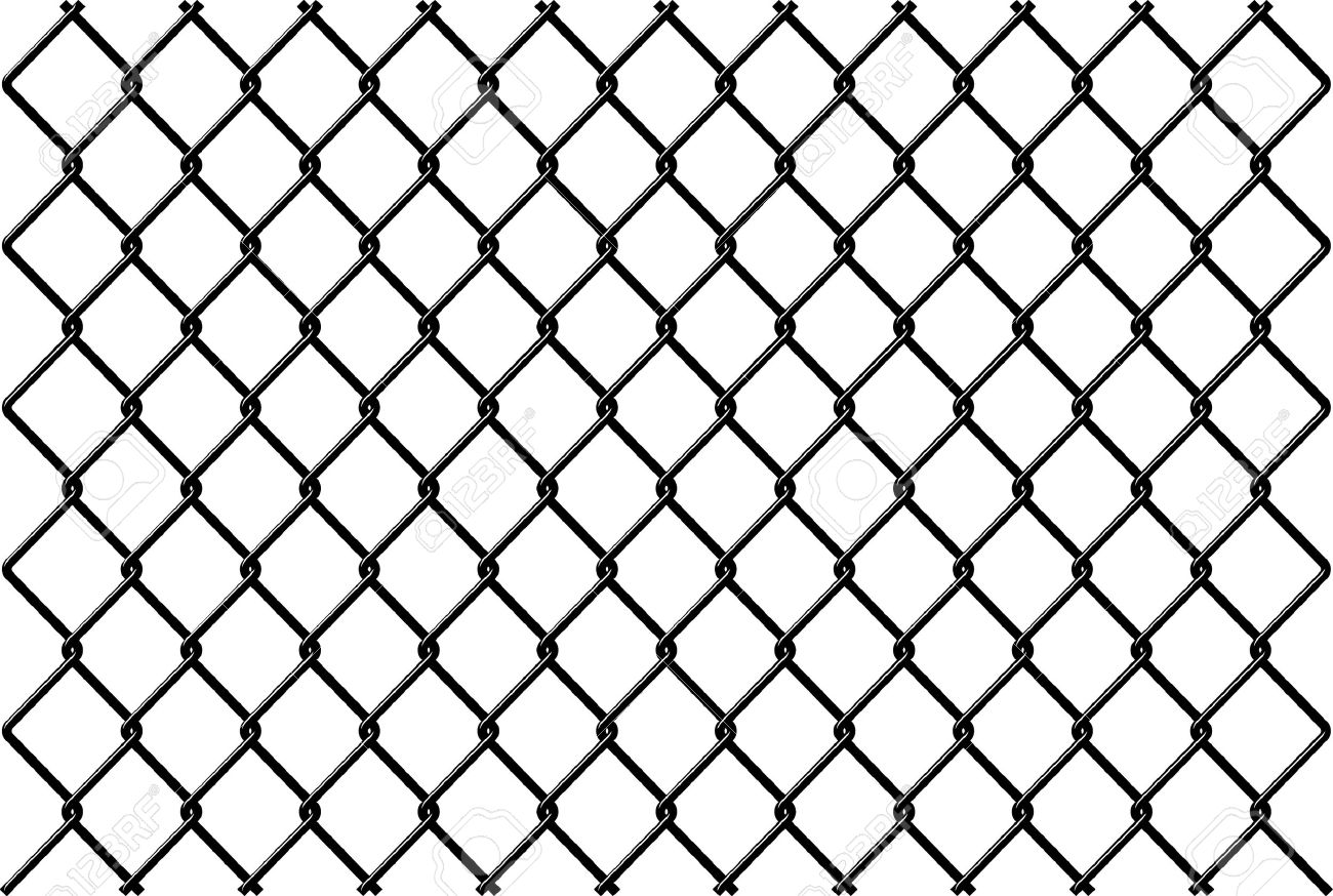 Chainlink Fence Vector With Reflection Royalty Free Cliparts