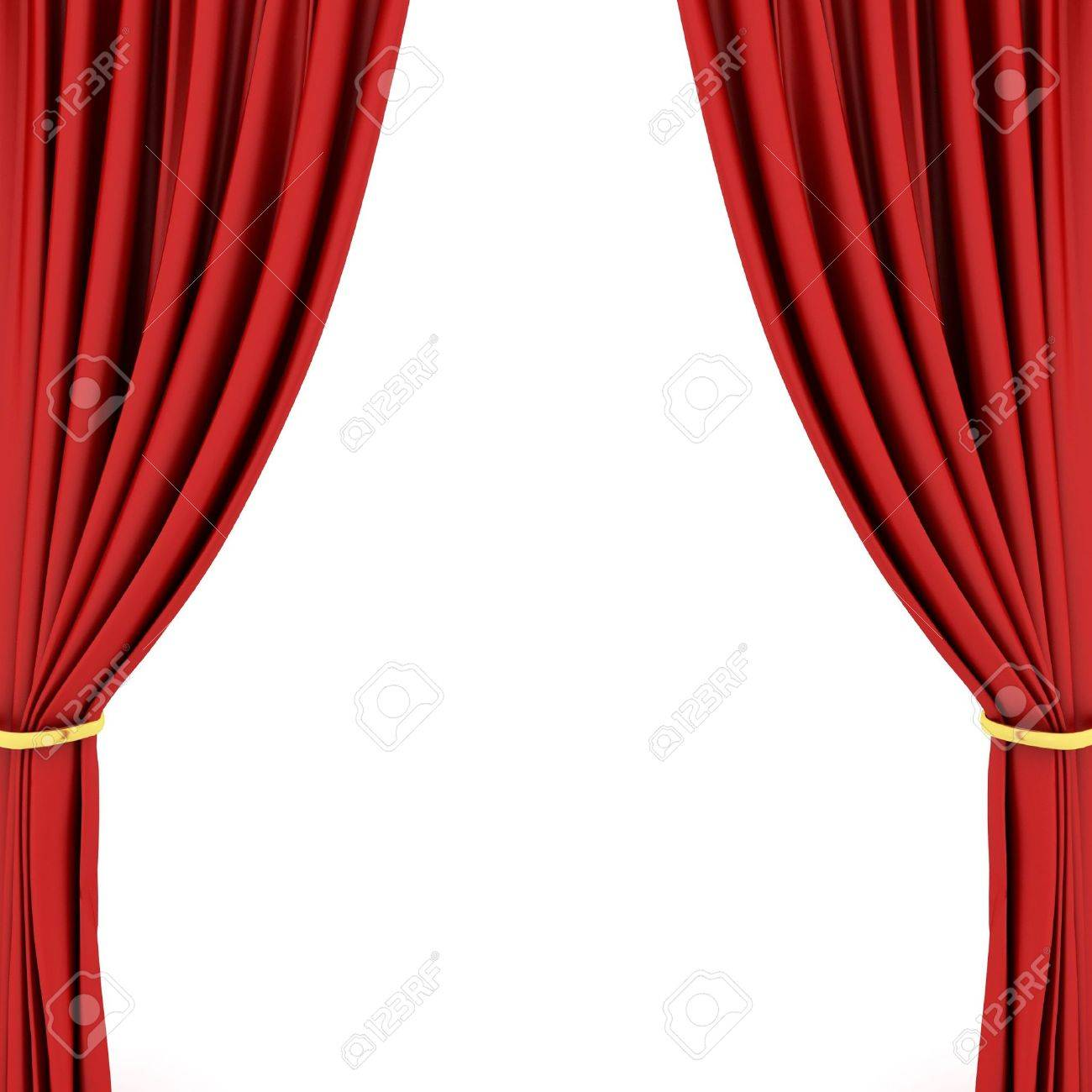 Red theater curtain Stock Photo - 6490821