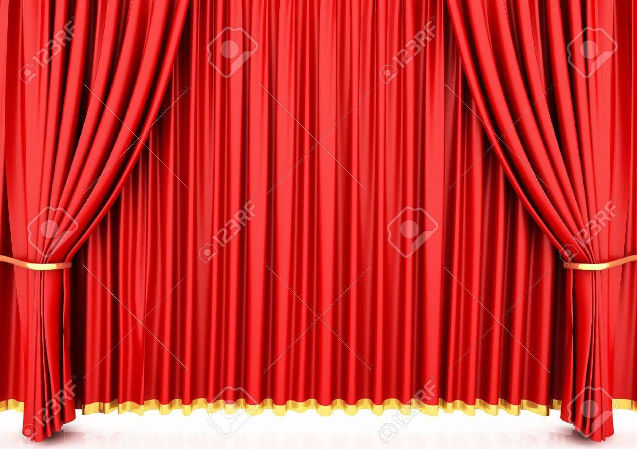 赤の劇場の幕 の写真素材・画像素材 Image 6490803.