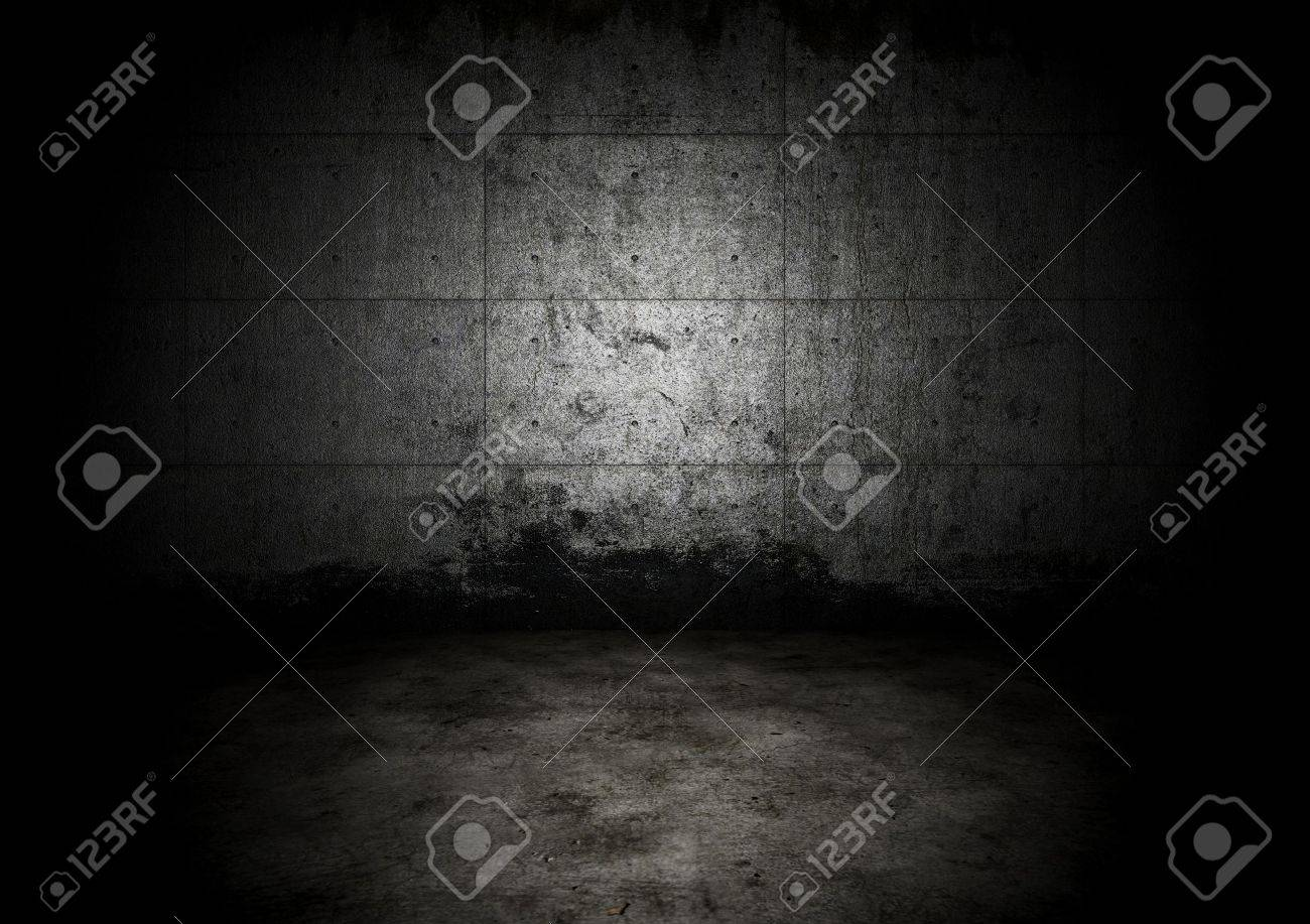 An empty dark dungeon wall. Historical prison wall concept Stock Photo - 6490834