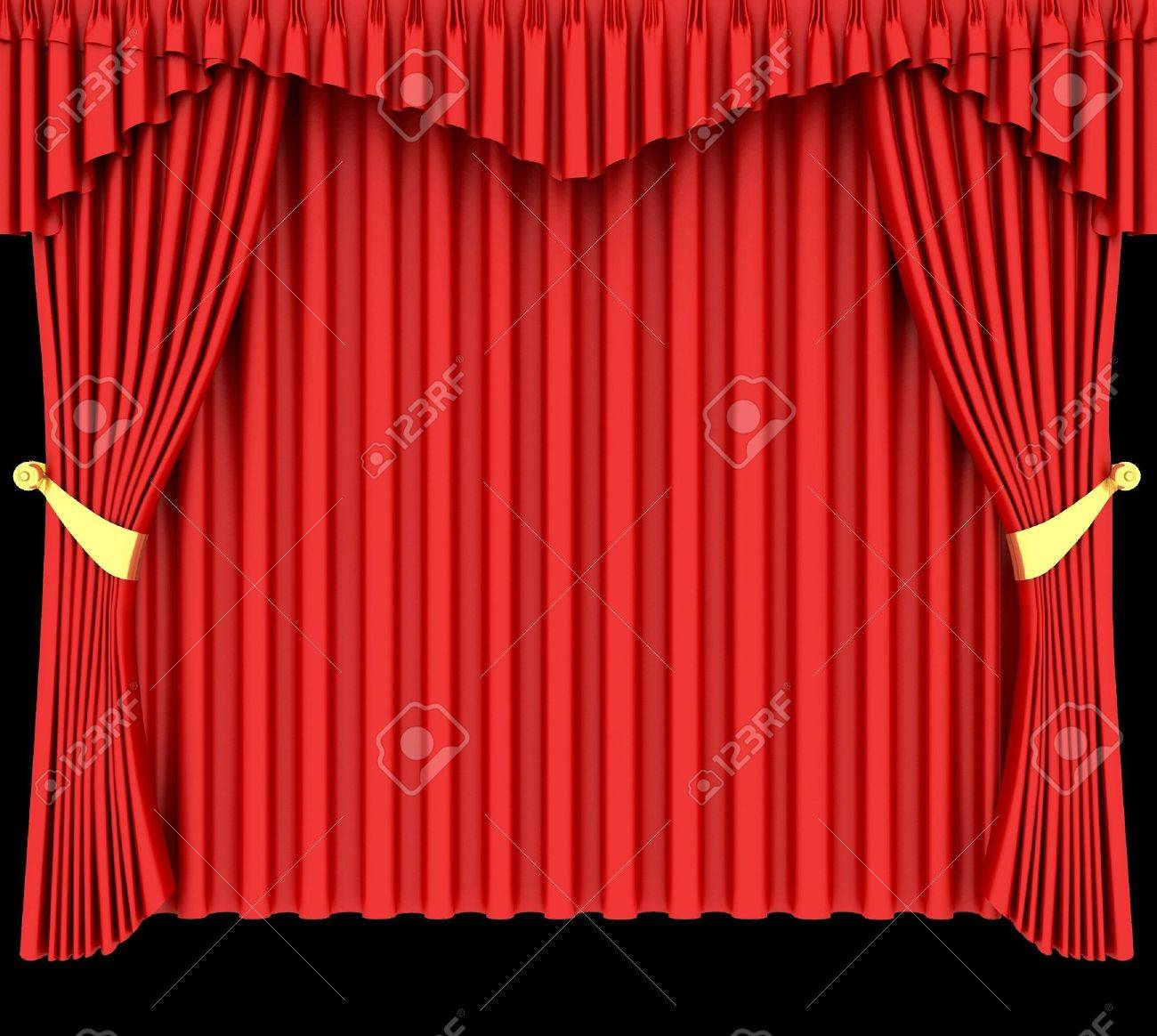 Theater curtains download free vector art stock graphics amp images - Trim Red Theater Curtain Isolated On Black Background
