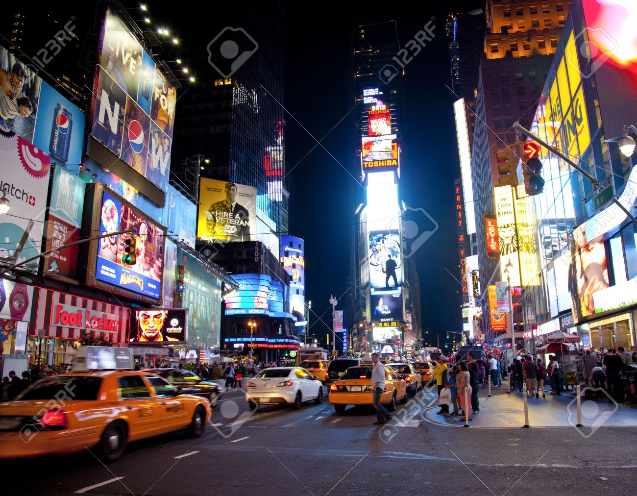 NEW YORK CITY JUNE 3 Times Square Famous Tourist Attraction – Tourist Attractions New York City