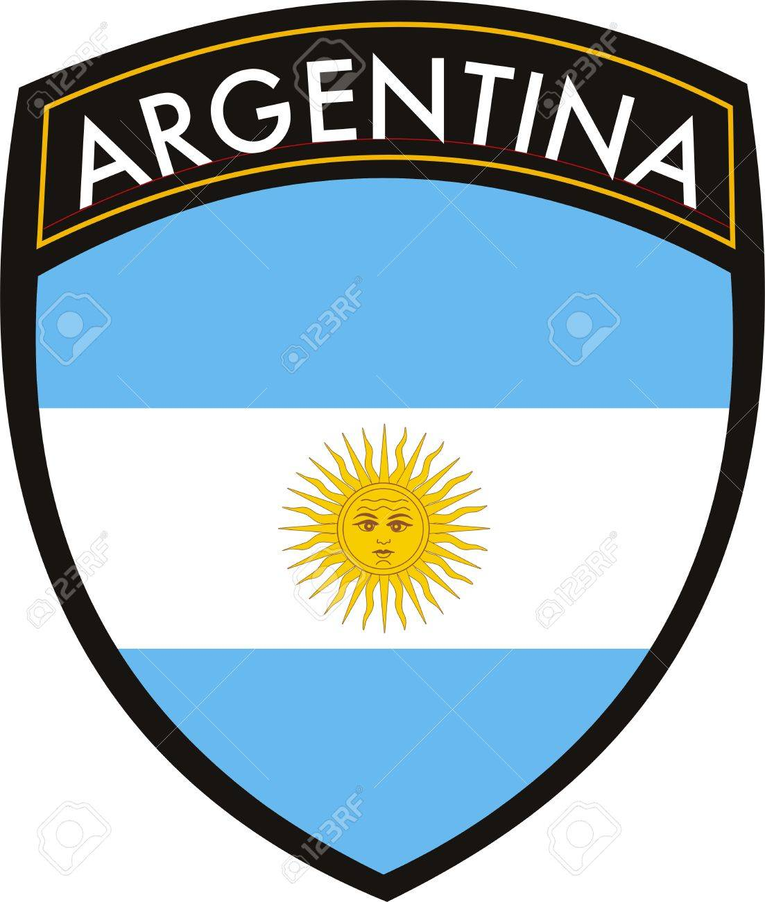 vector argentina flag with crest royalty free cliparts vectors and rh 123rf com crest vector pack crest vector elements