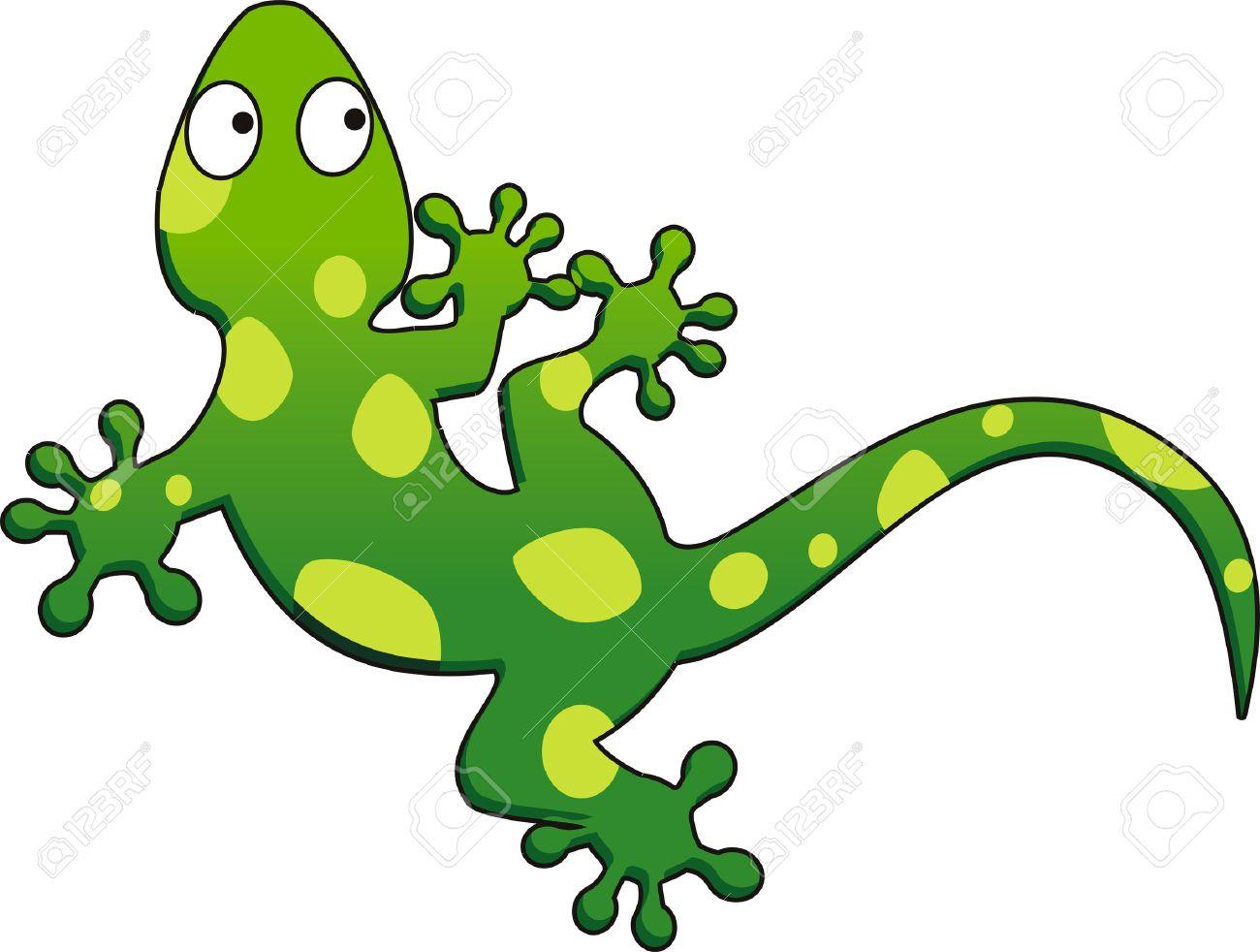 緑色のヤモリのベクトル イラストのイラスト素材ベクタ Image 5386169